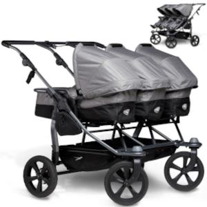 TFK TRIO COMBI wózek 2w1 dla trojaczków
