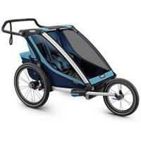 Wózek do biegania dla dwójki dzieci THULE CHARIOT CROSS 2 + przyczepka rowerowa