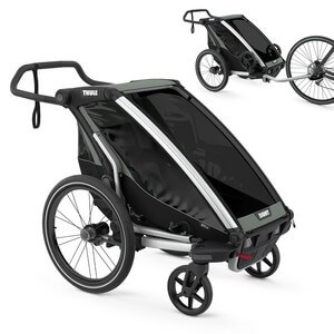 Wózek do biegania THULE CHARIOT LITE 1 + przyczepka rowerowa dla dziecka