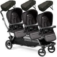 Wózek dla trojaczków PEG PEREGO TRIPLETTE PIROET POP-UP + 3 gondolki