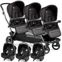 Wózek dla trojaczków PEG PEREGO TRIPLETTE PIROET POP UP + 3 foteliki