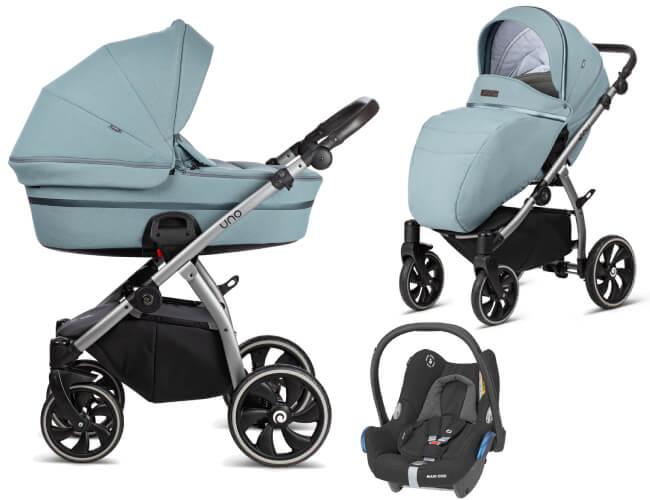 Wózek 3w1 Tutis UNO + fotelik Maxi Cosi CABRIO FIX 1