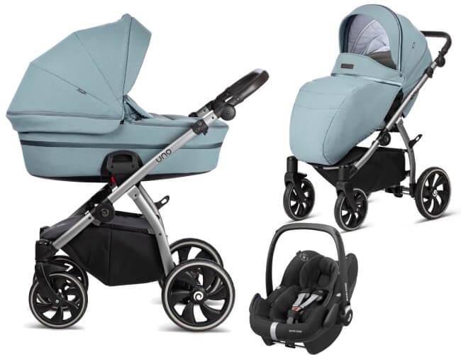 Wózek 3w1 Tutis UNO + fotelik Maxi Cosi PEBBLE PRO 1