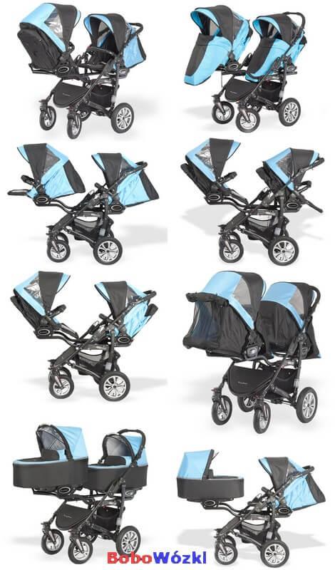Babyactive Twinni wózek dla bliźniąt