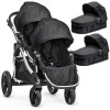 Wózek bliźniaczy 3w1 BABY JOGGER CITY SELECT DOUBLE + 2 foteliki Kiddy EVOLUTION PRO 2 Onyx